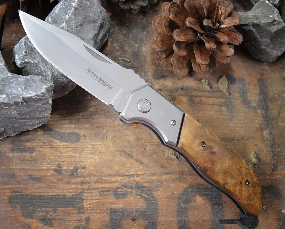 01MB429 Klingenl/änge 8,2 cm Magnum Black Shadow 42 Taschenmesser Schwarz